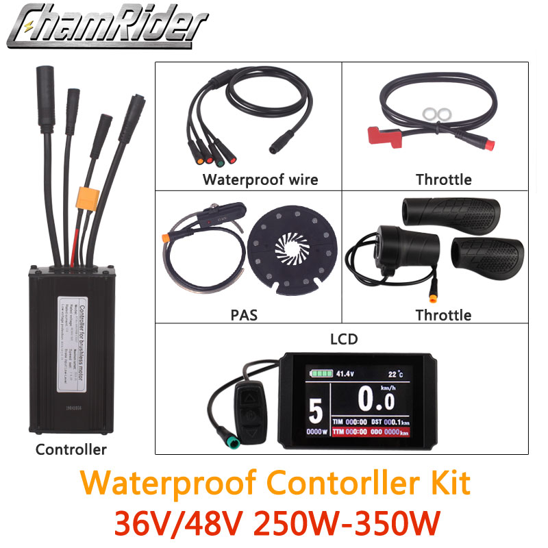 25 Ebike Parts Waterproof Cable 4in1 Connector for Meter Brake Throttle e Bike