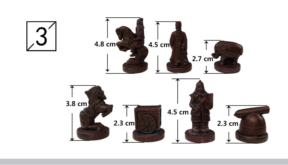 2 Yernea New Quality Traditional Chinese Chess Game Set Resin Chess Pieces Soft Chessboard Archaize Retro Chess Board Games (4)