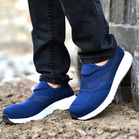 2019 Fashion MenThick Bottom Shoes Super Light Breathable Flying Woven Labor Insurance Shoes Anti smashing Anti piercing LBY2019