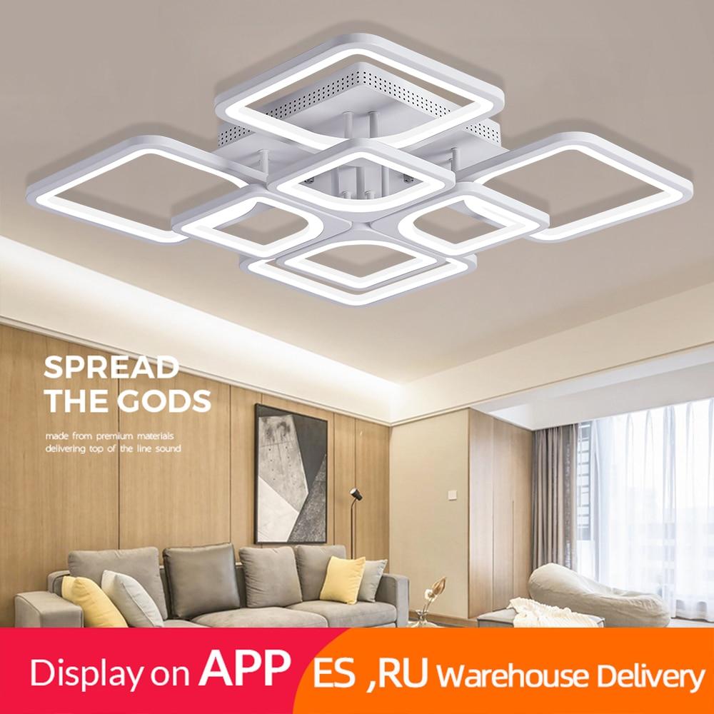 H2807cc8f1ee84b9c8ede930f0f61b947I 2019 Modern led ceiling lights/plafond lamp lustre suspension for living/dining room kitchen bedroom  home deco light fixtures