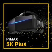 144Hz Blue Behuizing Met Comfort Kit Pimax 5K Plus 200FOV Vr Headsets Dual 2560X1440 P Rgb lcd Panelen Pimax Pc Vr Headset Bril(China)