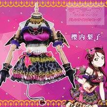 Anime Cosplay Costume Love Live Sunshine Aqours Sakurauchi Riko Little Devil Dress Christmas Costumes Wing A aqours love live sunshine sakurauchi riko christmas dress autumn winter cosplay costume a