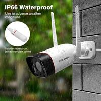 Floureon 2019 New Wireless WiFi Bullet Camera 1080P Motion Detection Dual Light IP Camera Night Vision IP66 for Outdoor Security