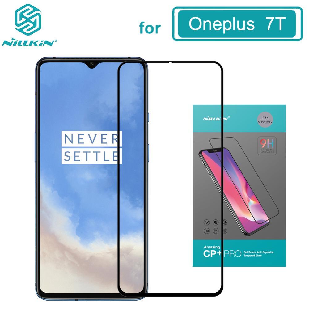 Закаленное стекло для Oneplus 7T защита экрана One plus 7T Nillkin Анти-взрыв CP + 2.5D полное покрытие Oneplus 7T стеклянная пленка