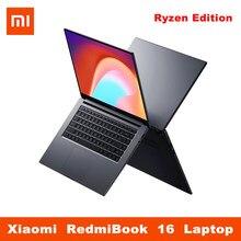 Ноутбук Xiaomi RedmiBook 16, 16,1 дюйма, AMD Ryzen Edition 7 4700U 5 4500U 16 8 Гб ОЗУ 512 ГБ SSD ПЗУ, графическая карта для ноутбука, компьютера