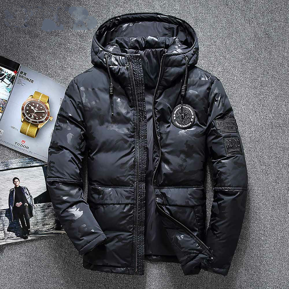 High Quality Men's Winter Jacket Thick Snow Parka Overcoat White Duck Down Jacket Men Wind Breaker Down Coat Size 4XL