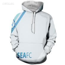 LBG new sale 3D printing Chelsea hoodie men and women fashion casual mens sports shirt Harajuku football uniform
