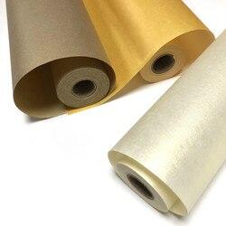 Xuan Papier Chinesischen Bunte Gold Folie Roll Reifer Xuan Papier mit Seide Textur Kalligraphie Malerei Praxis Reis Papier 20m