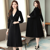 French Hepburn Style Dresses For Women Fashion Womens Clothing Elegant High Waist Womens Dresses New Arrival 2019