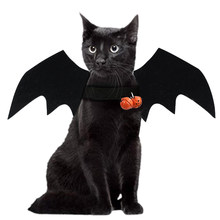 Halloween Cat Costume Felt Bat Wings Lightweight Pet Dog Cat Cosplay Dog Costume for Festival Party Fancy Dress Up Halloween(China)