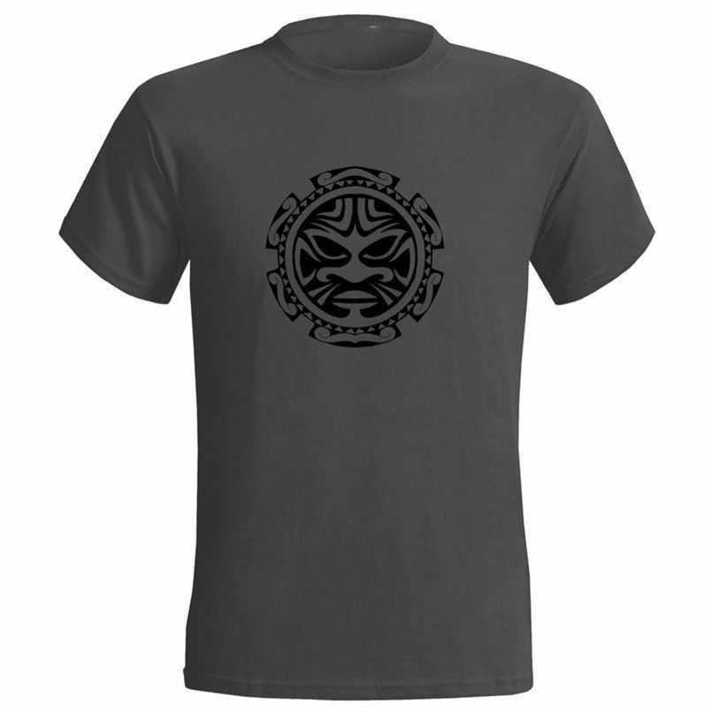Polynesian Face Mens T Shirt Tribe Tribal Tattoo Maori Art New Tee