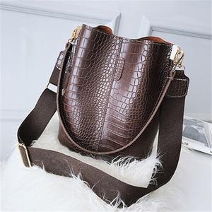 Image 5 - DIDA BEER Krokodil Crossbody Tas Voor Vrouwen Schoudertas Merk Designer Vrouwen Tassen Luxe PU Lederen Tas Emmer Tas Handtas