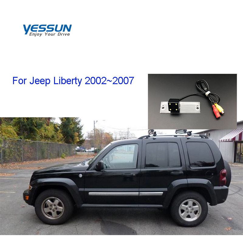 Yessun License Plate Rear View Camera 4 LED Night Vision 170 Degree HD For Jeep Liberty 2002~2007