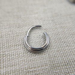 16G Implant Grade Titanium ASTM F136 Hot Sexy New Hinged Segment Ring Body Jewelry for Septum Helix Ear Piercings