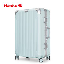 Hanke 2020 New Patent Design Luggage Aluminum Frame Travel Suitcase Trolley Bag Case Spinner Wheels TSA Lock Marcon Color(China)