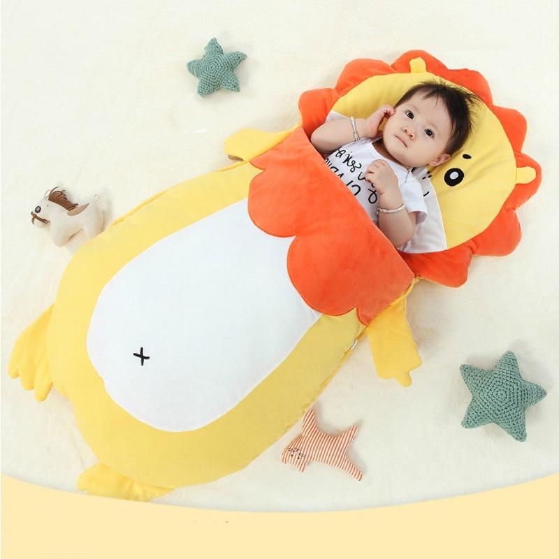 Super Cute Lion Toddler Sleeping Bag Infant Kid Sleep Watrm Bag Stroller Winter Newborn Sleep Sack Thick Baby Sleep Bag Yellow