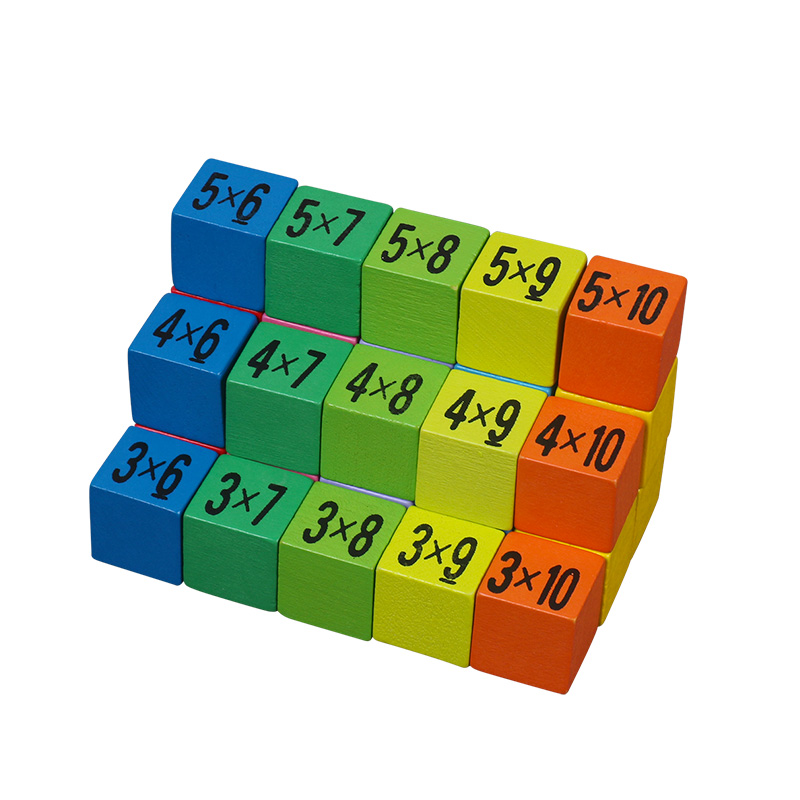 Children Wooden Toys 99 Multiplication Table Math Toy 10x10 Figure Blocks Y