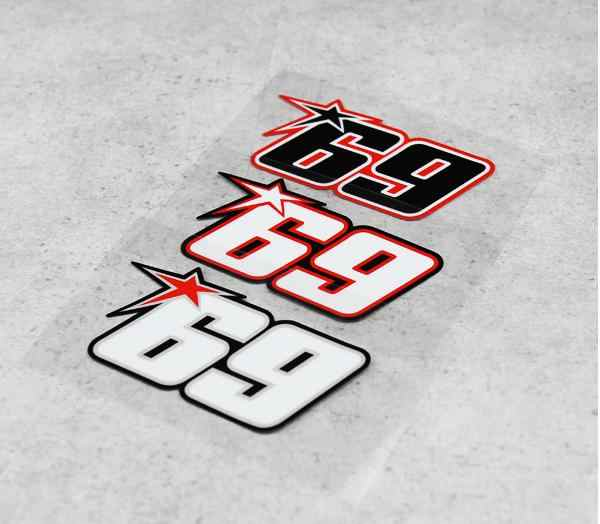 3 Kleur Nicky Hayden No.69 Sticker Motorsport Sticker Superbike Motocross Decals Helme Reflecterende Automobiles