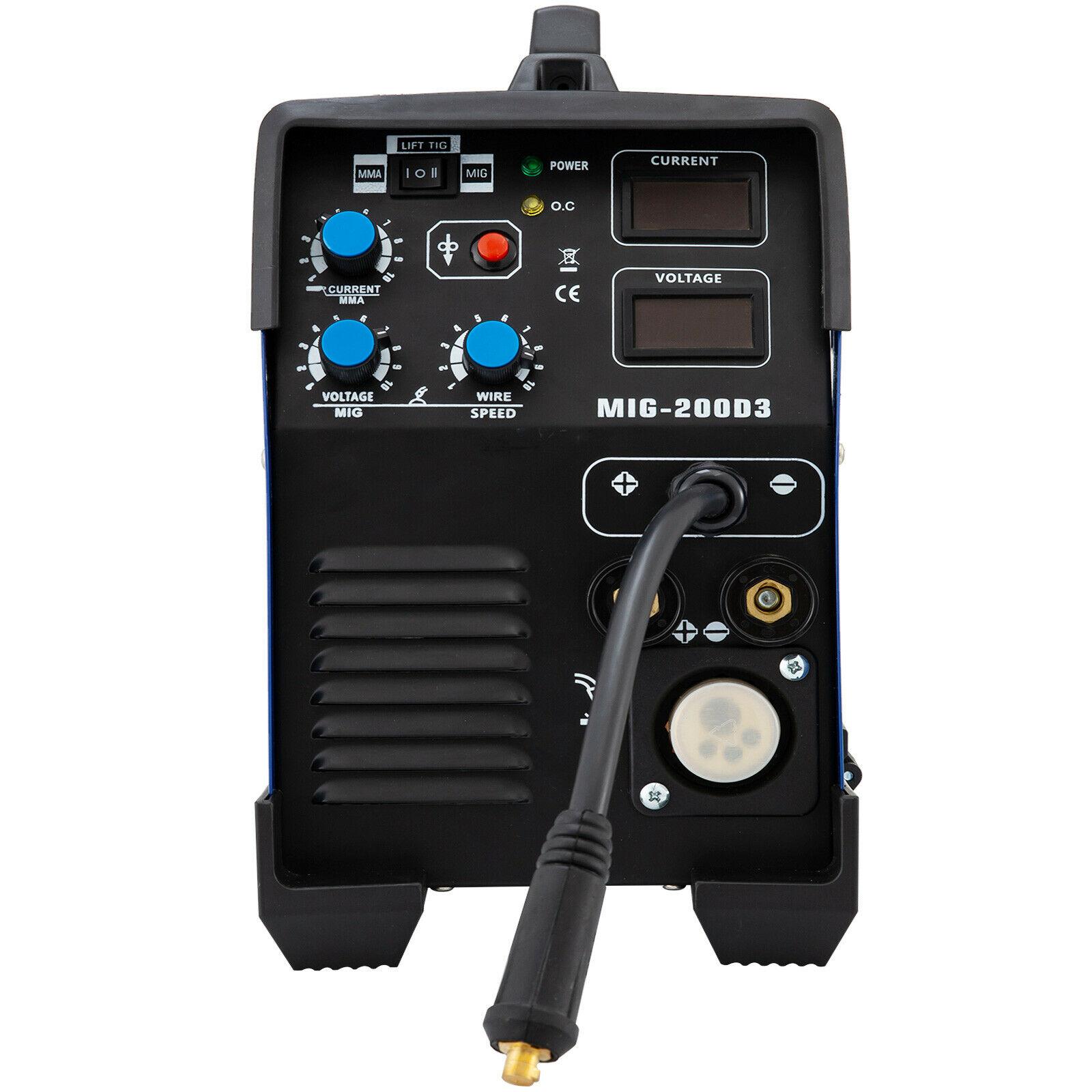 Schweiß Maschine MIG/MMA/TIG/MAG/FLUX Inverter Schweißer 200Amp
