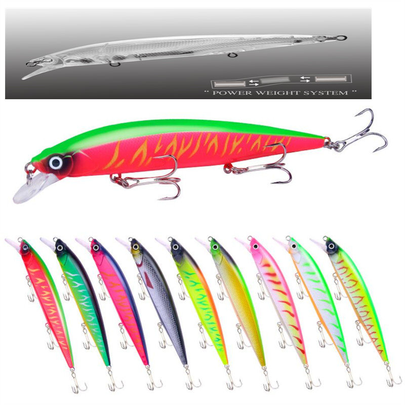 1 PCS 14cm/18.3g Big Minnow Fishing Lures Wobblers Crankbaits Jerkbaits Artificial Hard Baits Hooks 3D Eyes For Carp Fishing