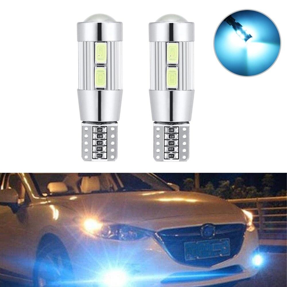 2 pces estilo do carro carro automóvel led 194 w5w canbus 10 smd 5630 led lâmpada sem erro led luz de estacionamento led luz lateral do carro