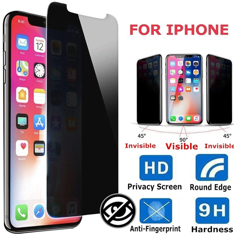 1 PC Privacy Protective Film Tempered Glass Screen Protectors Film For IPhone 11 11pro X XS XR 8 7 6 6S Antispy Tempered Film