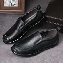 Fashion British Style Men Causal Shoes Genuine Leather Four Sea Outdoor Flats male Winter shoes size 37-48 *6826