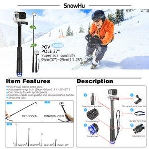 Image 4 - SnowHu Kit de accesorios para Xiaomi YI 4K, trípode, monopié, correa para trucos, adaptador de montaje para YI 4K + para YI Lite, cámara GS27