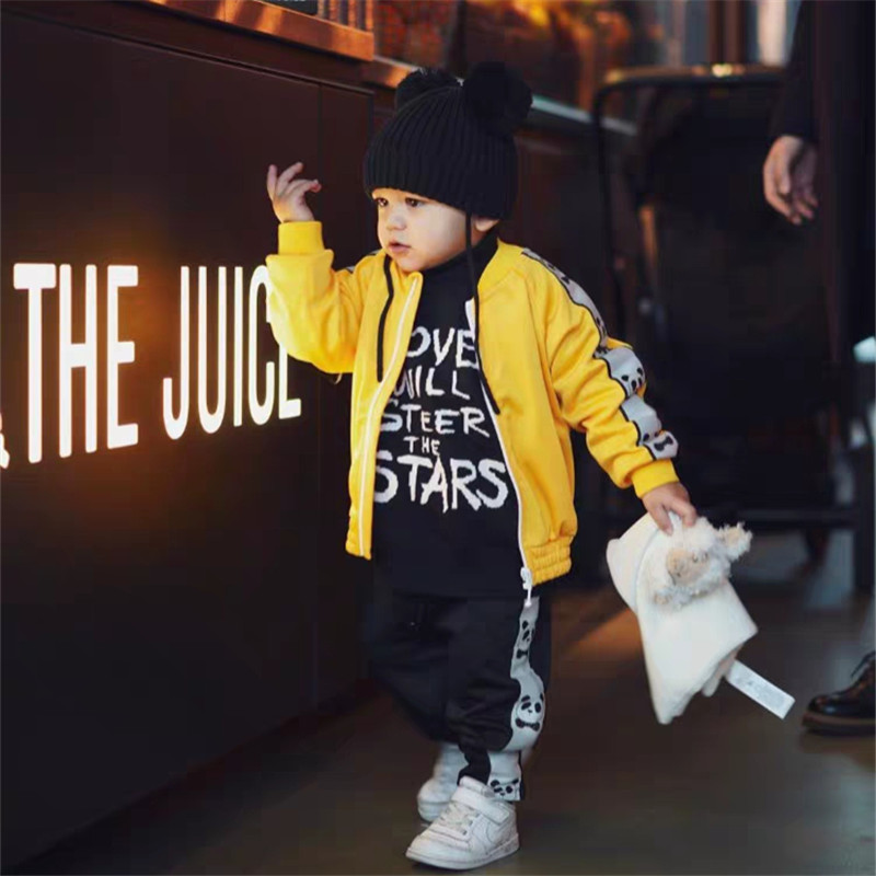 1-9Years Princess Kids Baby Girls Boys Panda Print Jacket Button Coat Outerwear Tops Clothes 4