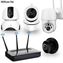 Wireless Macchina Fotografica del IP Macchina Fotografica del CCTV Kit Sistema di Sicurezza 4pcs 1080P SD Card Cloud storage A Due Vie Audio di Casa video di Sorveglianza Kit