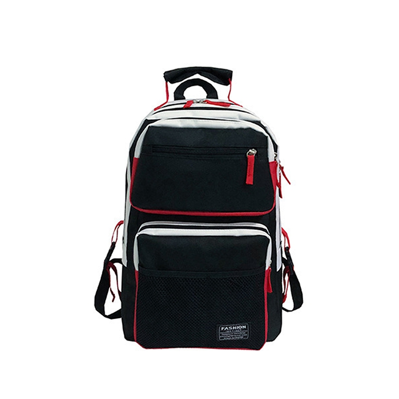Casual Backpack Large Capacity Student Bag Computer Backpack Sports Backpack Black And White