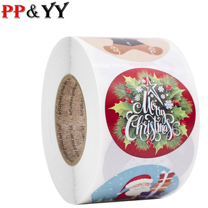 Snowman Stickers Christmas Gift Decoration Packaging Stationery Happy Holidays Seal Label