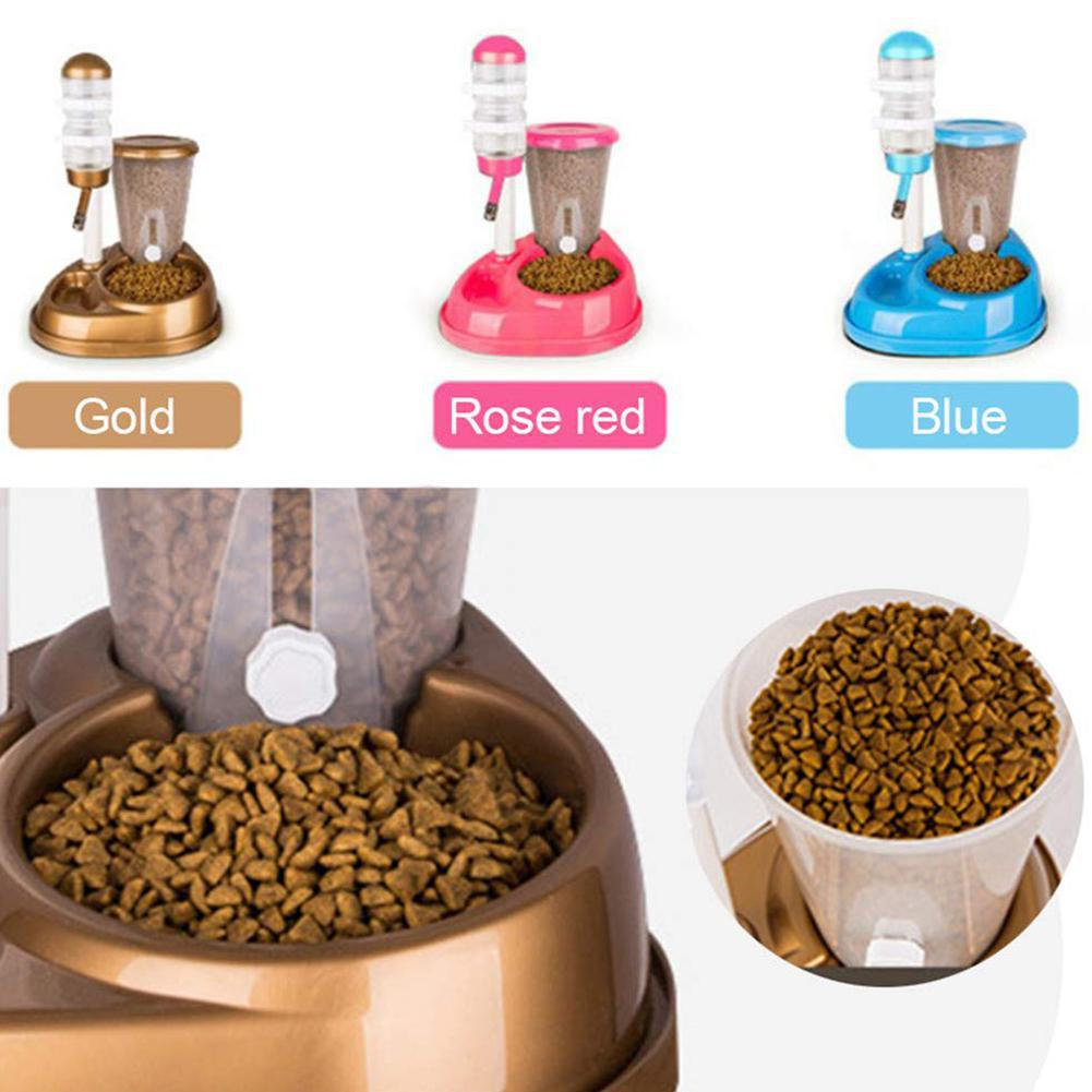Cats Feeding & Watering Accessories Feeding & Watering Accessories 2 In 1 Pet Automatic Feeder with Large Capacity Water Fountain and Food Bowl  My Pet World Store
