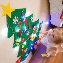 DIY LED Felt Christmas Tree Ornaments Navidad 2019 Decorations for Home Natale Kerst New Year Kids Gifts Toy Xmas Noel