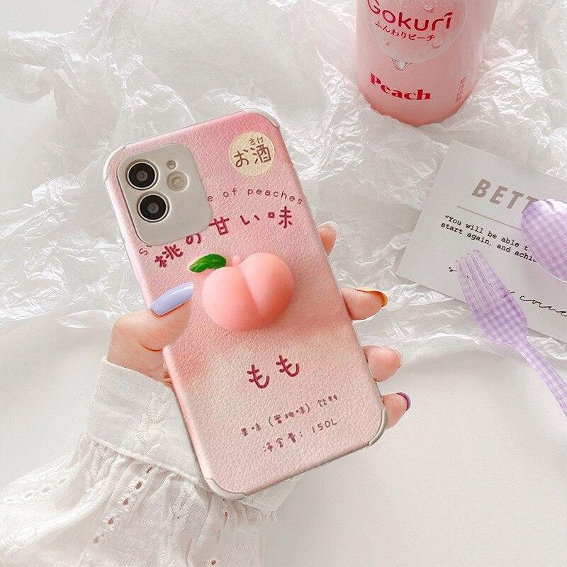 Kawaii Peach iPhone Case 2