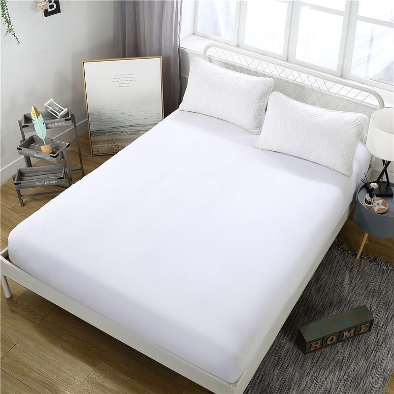 2019 Bed Sheet Mattress Cover Dust Cover 90*200 Fitted Sheet <font><b>180*200</b></font> Bed Cover with Elastic Rope King Queen Size Bed Linen Sheet image