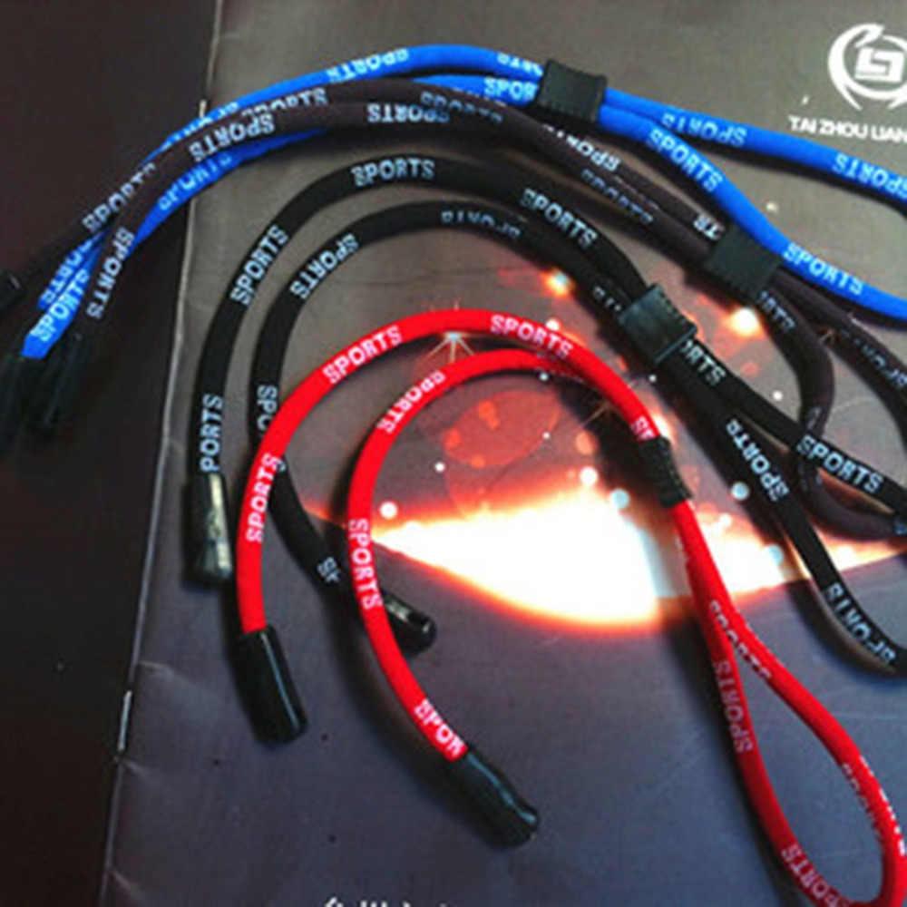 Elastico Occhiali Cavo regolabile occhiali cordicelle al collo stringa del cavo di fermo della cinghia della Fascia per la Testa di Occhiali corda 122
