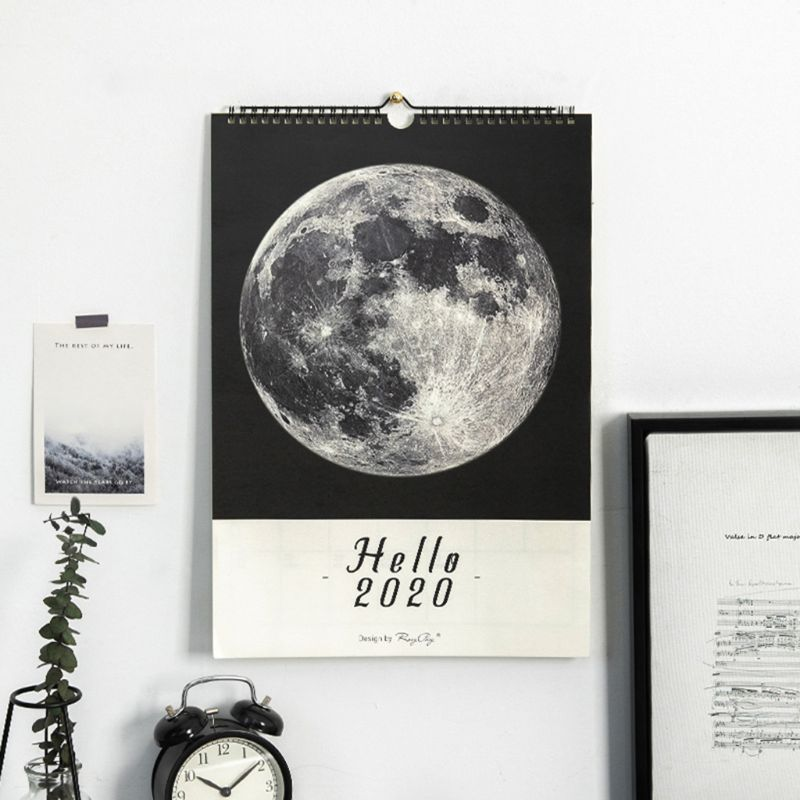 Nordic Style Wall Calendar Hand Painted Schedule DIY Simple Notepad Calendary Memorandum Workpad Office Home Supplies