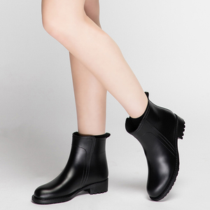 Image 3 - DRIPDROP נשים של קצר מגפי החלקה עמיד למים אופנה גשם נעלי נשי קרסול צ לסי גשם מגפי נעלי נשים