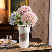 Florero de cerámica Vintage estilo europeo florero de flores superficie lisa fina decoración del hogar artículos de decoración tamaño 26CM