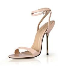 Summer New 11cm High Heeled Sandal Fashion Women Sandals Stiletto Thin heel Ankle Strap Open Toe Sexy Party Dress Lady Shoe 5-i6 цены онлайн