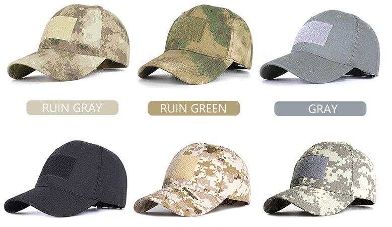 17 Colors Camo Men's gorras Baseball Cap Male Bone Masculino Dad Hat Trucker New Tactical Men's Cap Camouflage Snapback Hat 2020 5