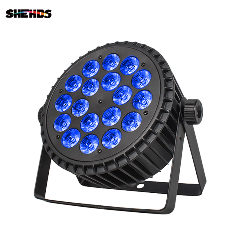 Aluminum Alloy LED Par 18x18W RGBWA+UV Lights 6in1 Led Lighting DMX512 Disco Light Professional Stage Dj Equipment Fast Shipping