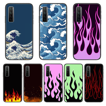 Pulsating flame Water waves Phone Case For Huawei Nova p10 lite 7 6 5 4 3 Pro i p Smart ZBlack Etui 3D Coque Painting Hoesje image