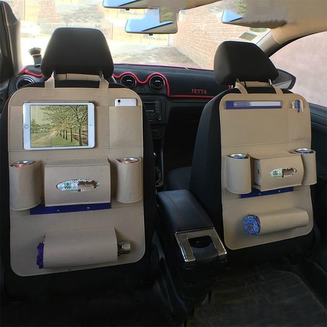 1Pc Multi Pocket Auto Rugleuning Organisator Opbergtas Pad Cups Opslag Telefoon Houder Vilt Protector Voor kids Kinderen