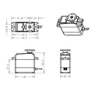 Image 3 - 35kg 고 토크 코어리스 모터 서보 ds3135 메탈 기어 및 ds3235 stainlesssg 로봇 diy, rc 카용 방수 디지털 서보