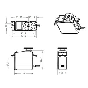 Image 3 - 35kg high torque Coreless servo motore DS3135 ingranaggi In Metallo e DS3235 StainlessSG impermeabile digital servo per Robot FAI DA TE, RC auto