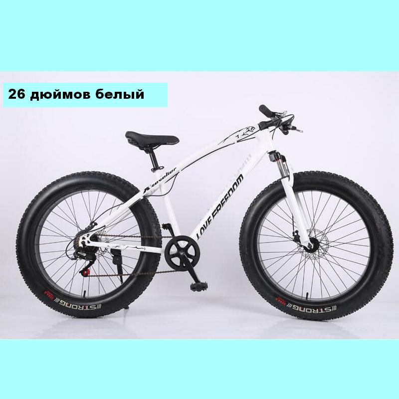 Bicycle 7/21/24/27 Speed Mountain Bike 26 * 4.0 Fat Tire Bikes Shock Absorbers Bicycle Free Delivery Snow Bike