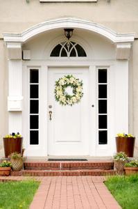 Image 4 - 複数のスタイルシルク牡丹人工花花輪ドア完璧な品質シミュレーション花輪結婚式ホームパーティーの装飾