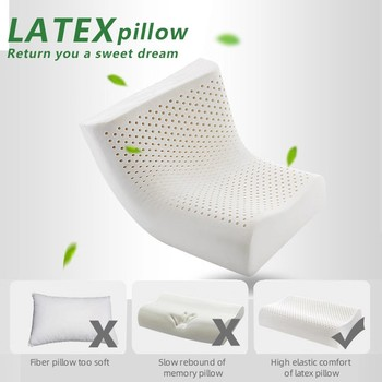 Thailand Natural Latex Orthopedic Massage Pillow Neck Cervical Spine Protected Remedial Big Vertebrae Pillow 1